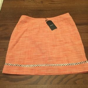 {NWT} Orange and White Skirt